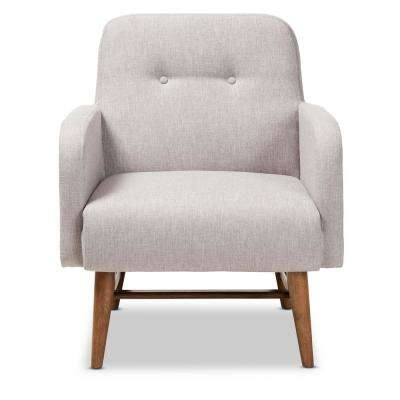 Perrine Greyish Beige Fabric Lounge Chair