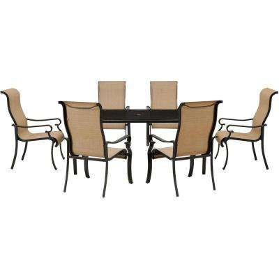 Hammond 7-Piece Patio Outdoor Dining Set with Glass-Top Table