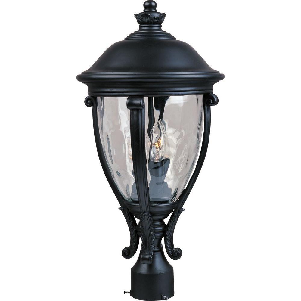 Maxim Lighting Camden Vivex 3 Light Black Outdoor Pole Post