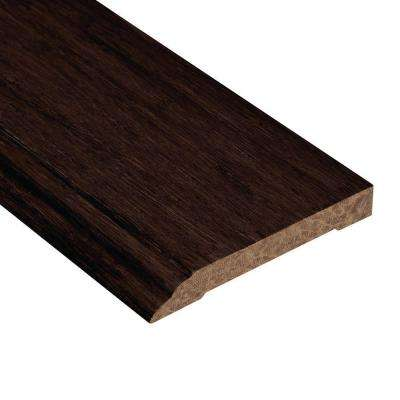 Strand Woven Espresso 1/2 in. Thick x 3-1/2 in. Wide x 94 in. Length Bamboo Wall Base Molding