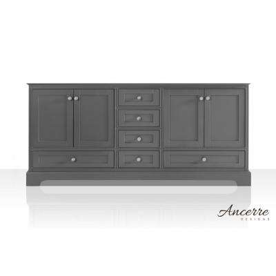 Audrey 71 in. W x 21 in. D Vanity Cabinet Only in Sapphire Gray