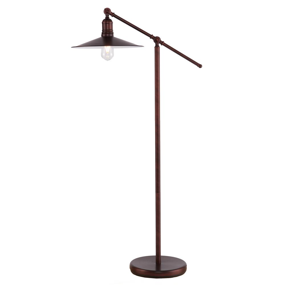 Erynne 51 in. Coppery Brushed Bronze Floor Lamp