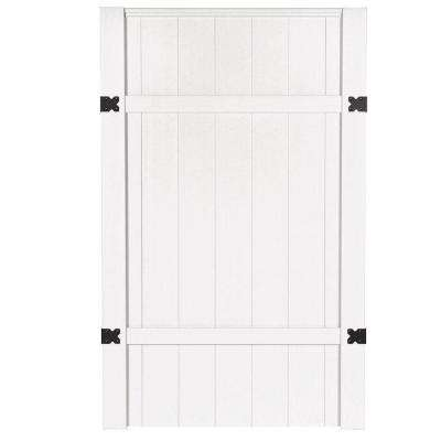 3-1/2 ft. W x 6 ft. H White Vinyl Windham Fence Gate