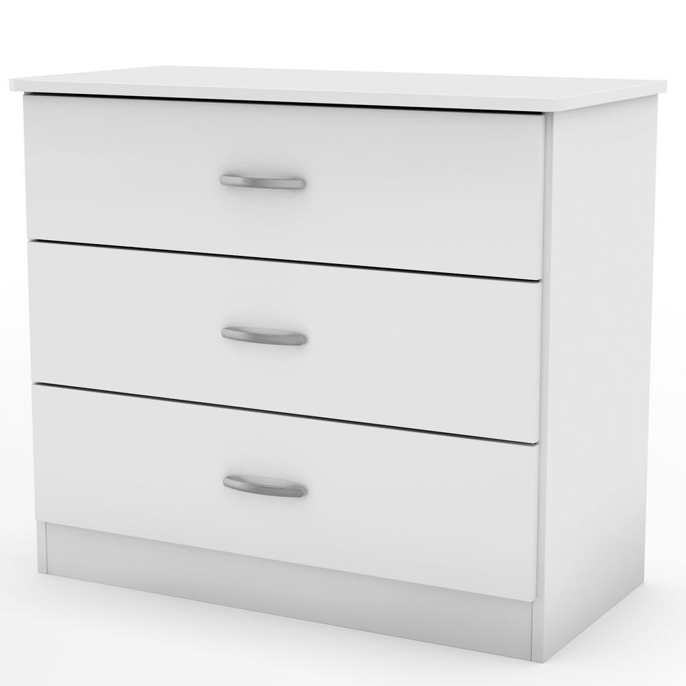Libra 3-Drawer Pure White Chest
