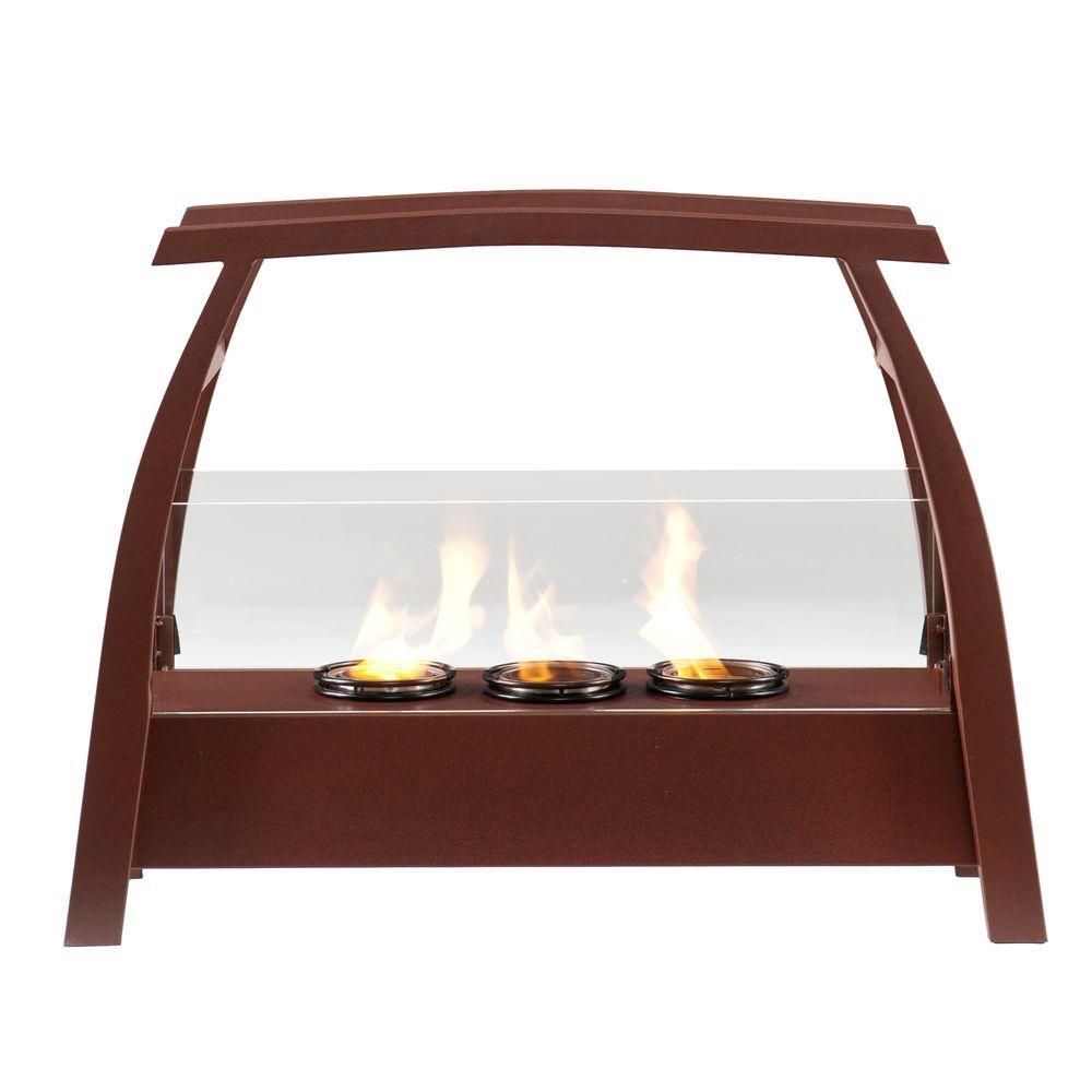 Southern Enterprises Amilia 27 in. Portable Indoor/Outdoor Gel Fuel Fireplace