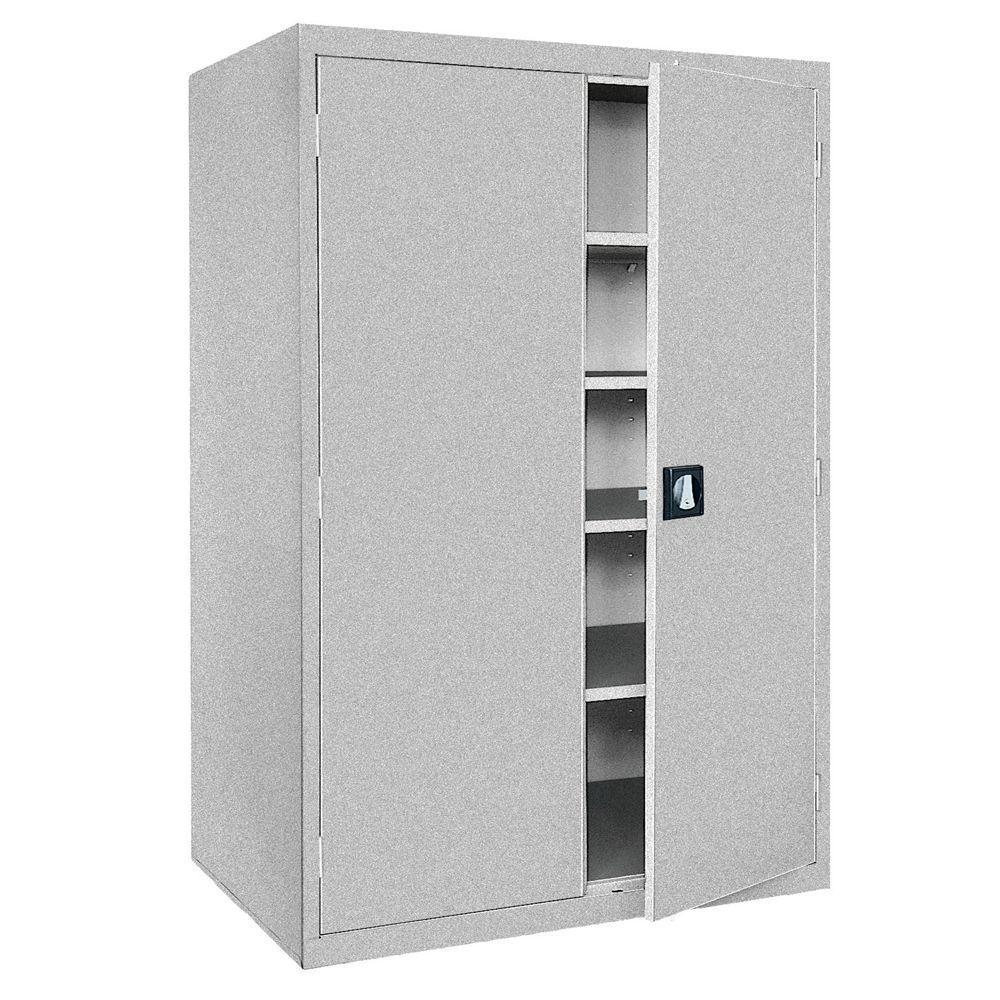 Elite Series 78 in. H x 46 in. W x 24 in. D 5-Shelf Steel Freestanding Storage Cabinet in Multi Granite