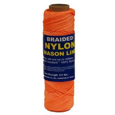 #1 x 1000 ft. Braided Nylon Mason in Line Orange