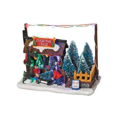 7 in. H Battery Operated Christmas Tree Lot