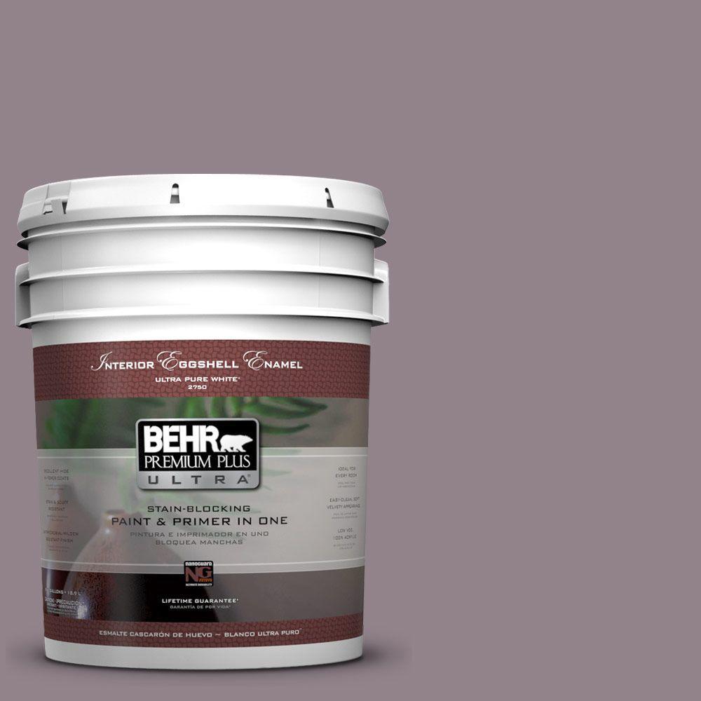 BEHR Premium Plus Ultra 5-gal. #N110-4 Gothic Purple Eggshell Enamel Interior Paint