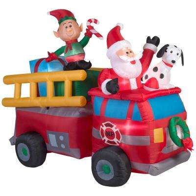 68 ft. Inflatable Holiday Fire Truck