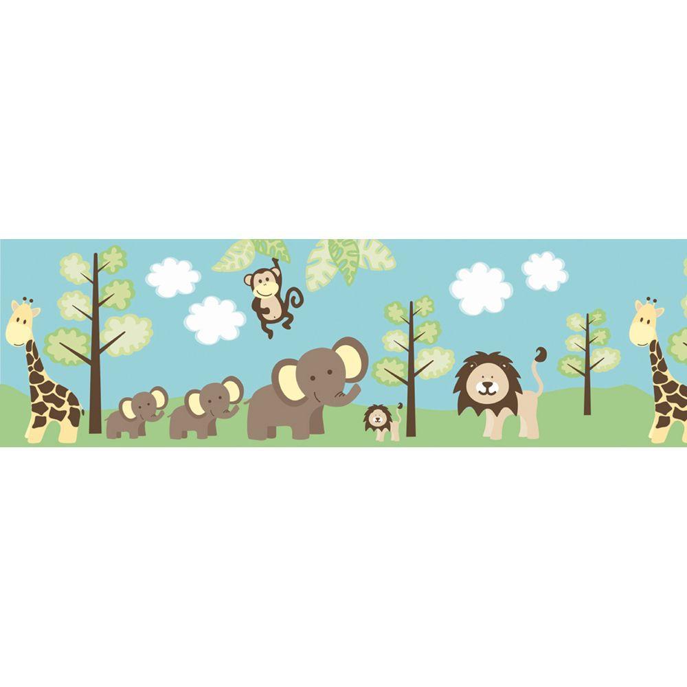 Kids World Jungle Friends Wallpaper Border