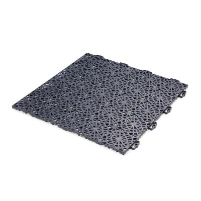 XL Tiles 1.24 ft. x 1.24 ft. PVC Deck Tile Graphite, 35-Tiles per case /54 sq. ft.