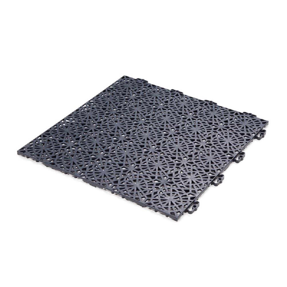 XL Tiles 1.24 ft. x 1.24 ft. PVC Deck Tile Graphite,