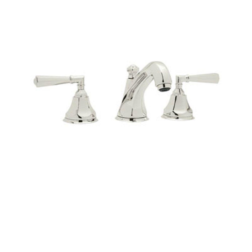 Rohl Palladian 8 in. Widespread 2-Handle Bathroom Faucet in Polished Nickel