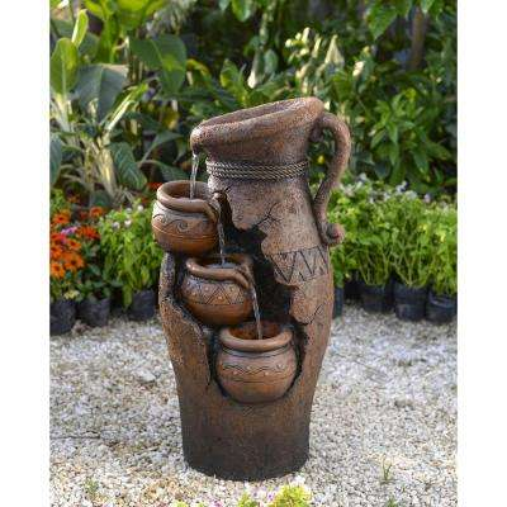 Multi-Tier Broken Pots Water Fountain