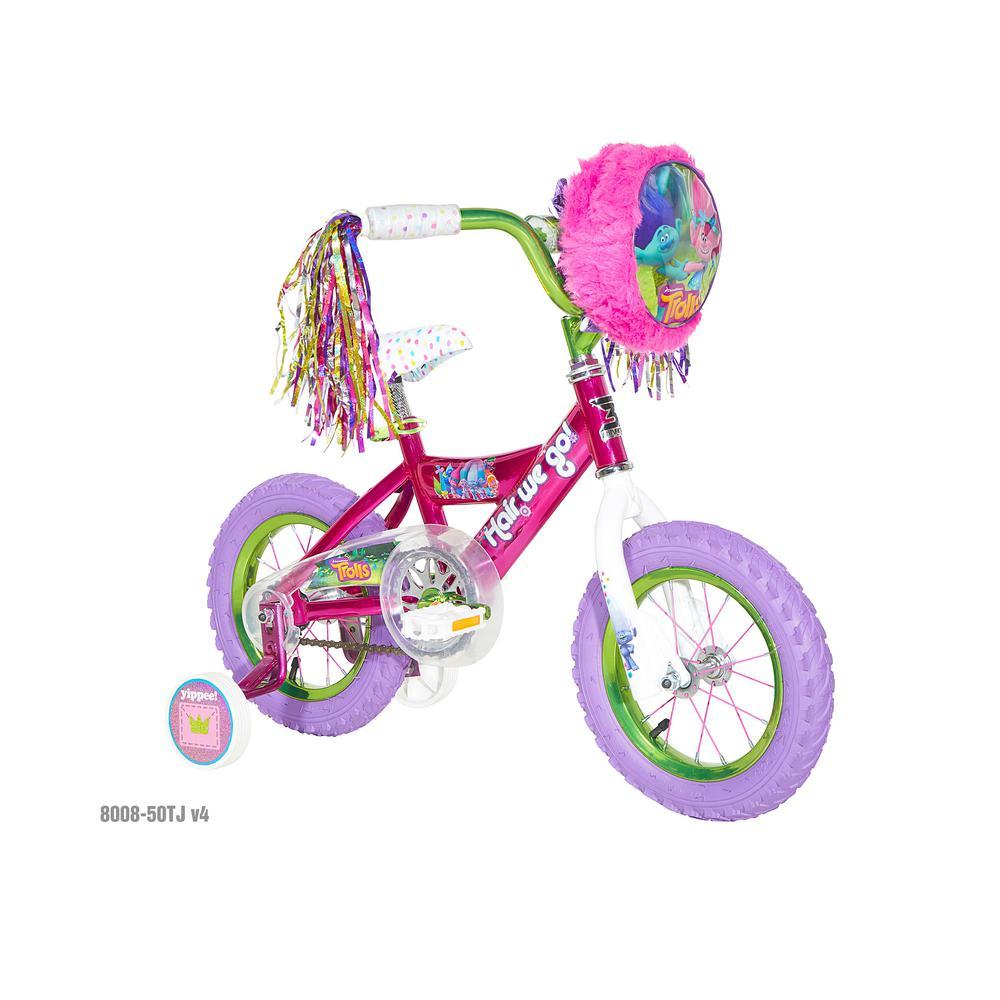 cd922b6465f Dynacraft 12 in. Girls Bike Dreamworks Troll-8008-50TJD - The Home Depot
