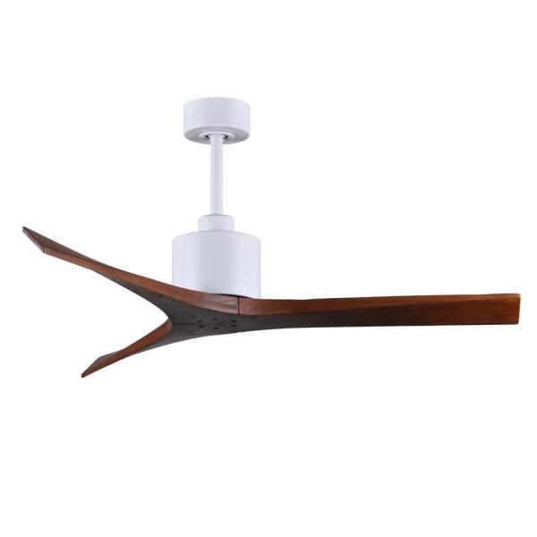 Mollywood 52 in. Matte White Ceiling Fan with Hand Held Remote and Wall Control