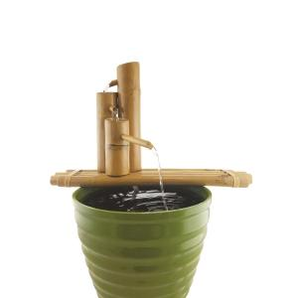 Lifegard Aquatics 18 inch Bamboo 3-Tier Fountain-Complete with Pump and Tubing by Lifegard Aquatics