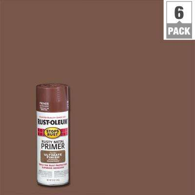 12 oz. Flat Rusty Metal Primer Spray (6-Pack)