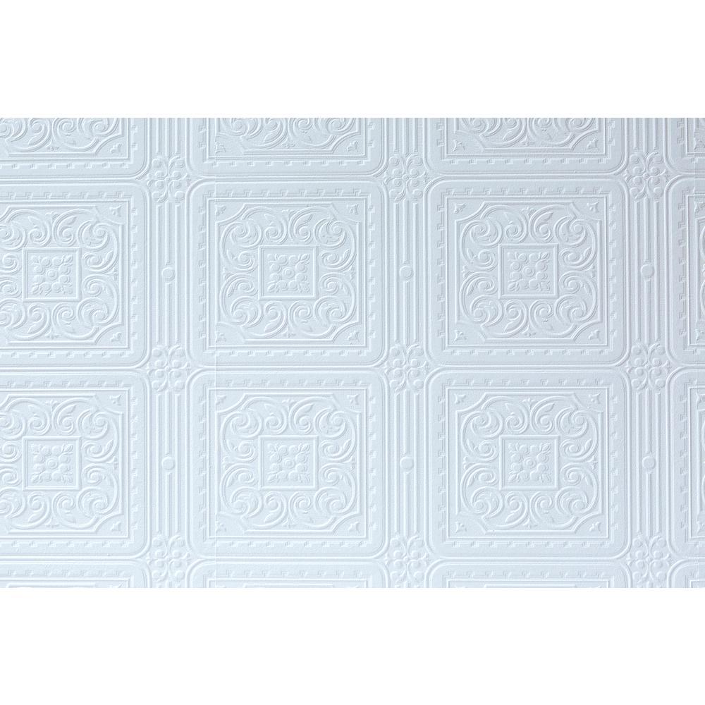 Turner Tile Paintable Textured Vinyl Wallpaper Sample