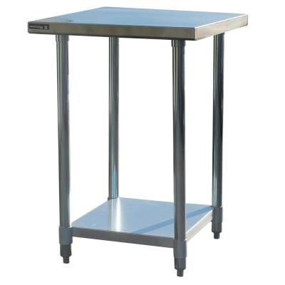 24 in. Stainless Steel Kitchen Utility Table with Bottom Shelf