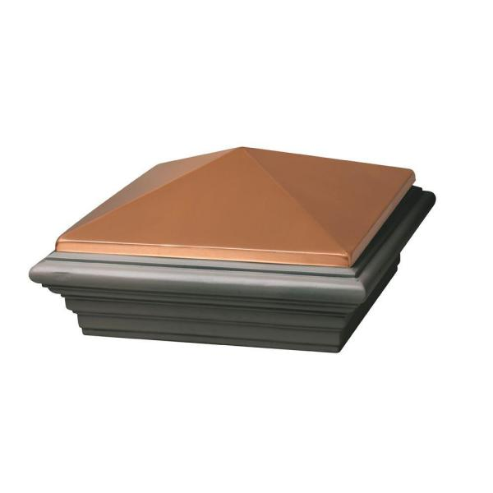 8 in. x 8 in. Copper Composite Cast Stone Postcover Cap