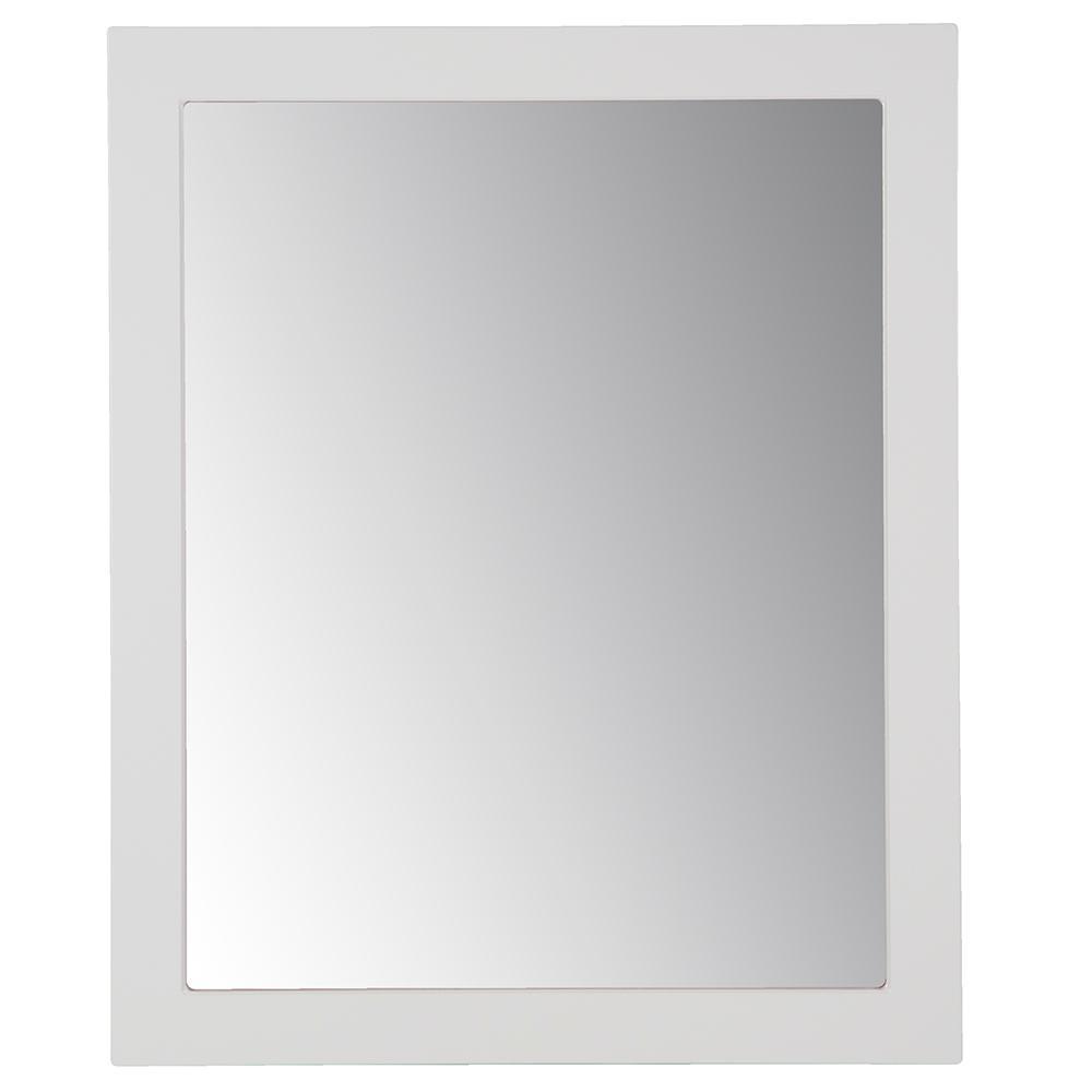 Thornbriar 26 in. W x 31 in. H Single Framed Wall Mirror in Polar White