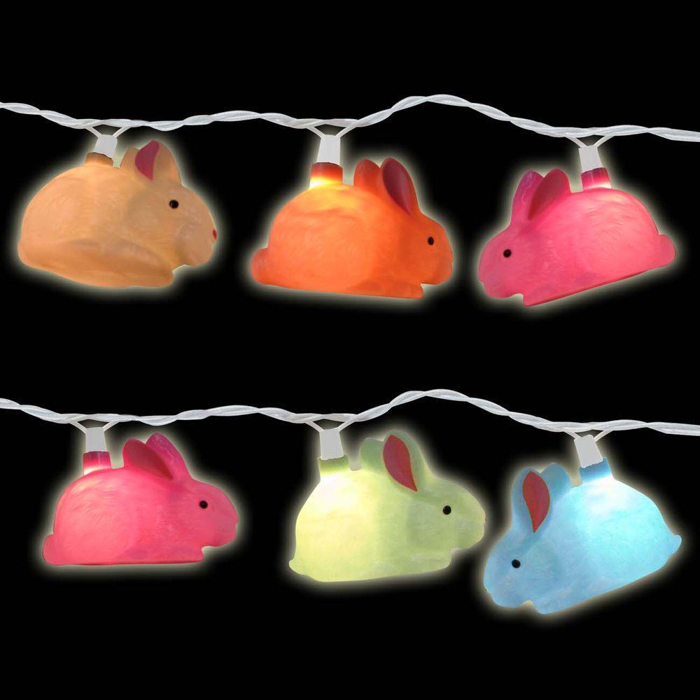 10-Light Multi-Color Rabbit Light Set (Set of 2)