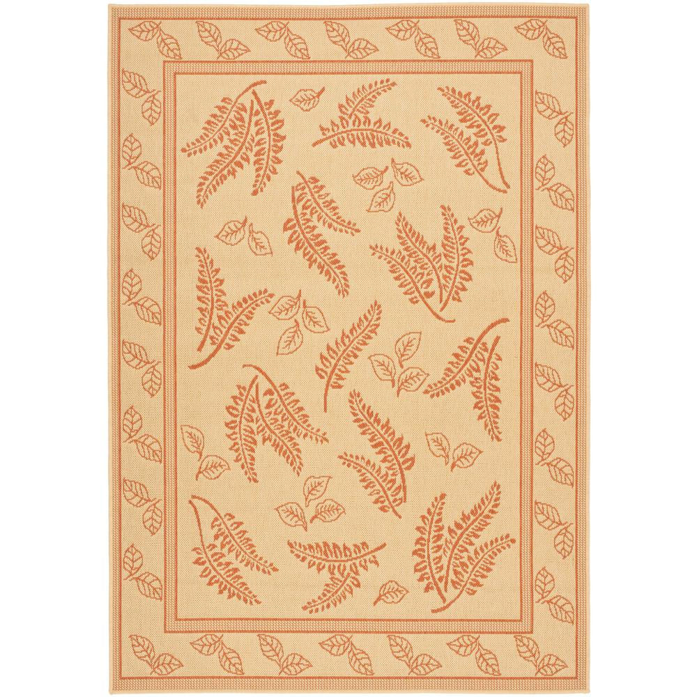 Safavieh Courtyard Natural/Terracotta 4 ft. x 5 ft. 7 in. Indoor/Outdoor Area Rug