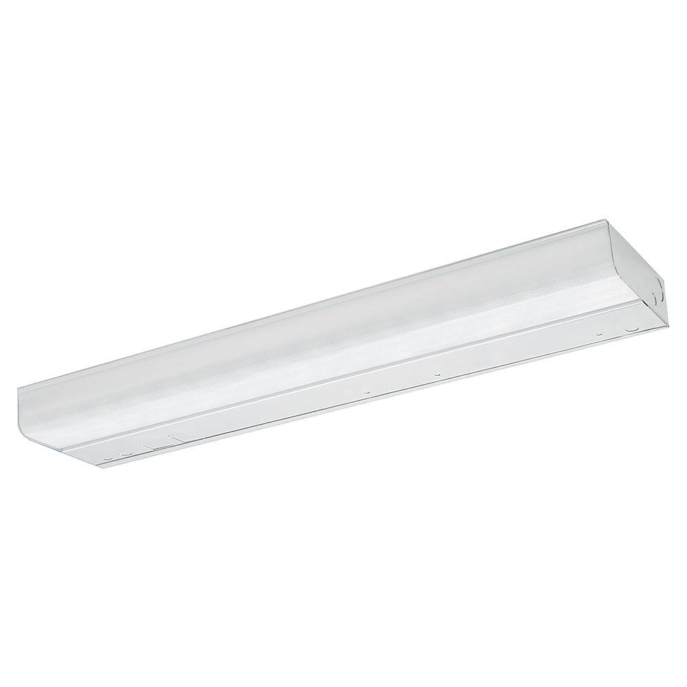 thomas lighting 18 in fluorescent matte white under cabinet light rh homedepot com under cabinet lighting fluorescent vs led under cabinet fluorescent light fixture