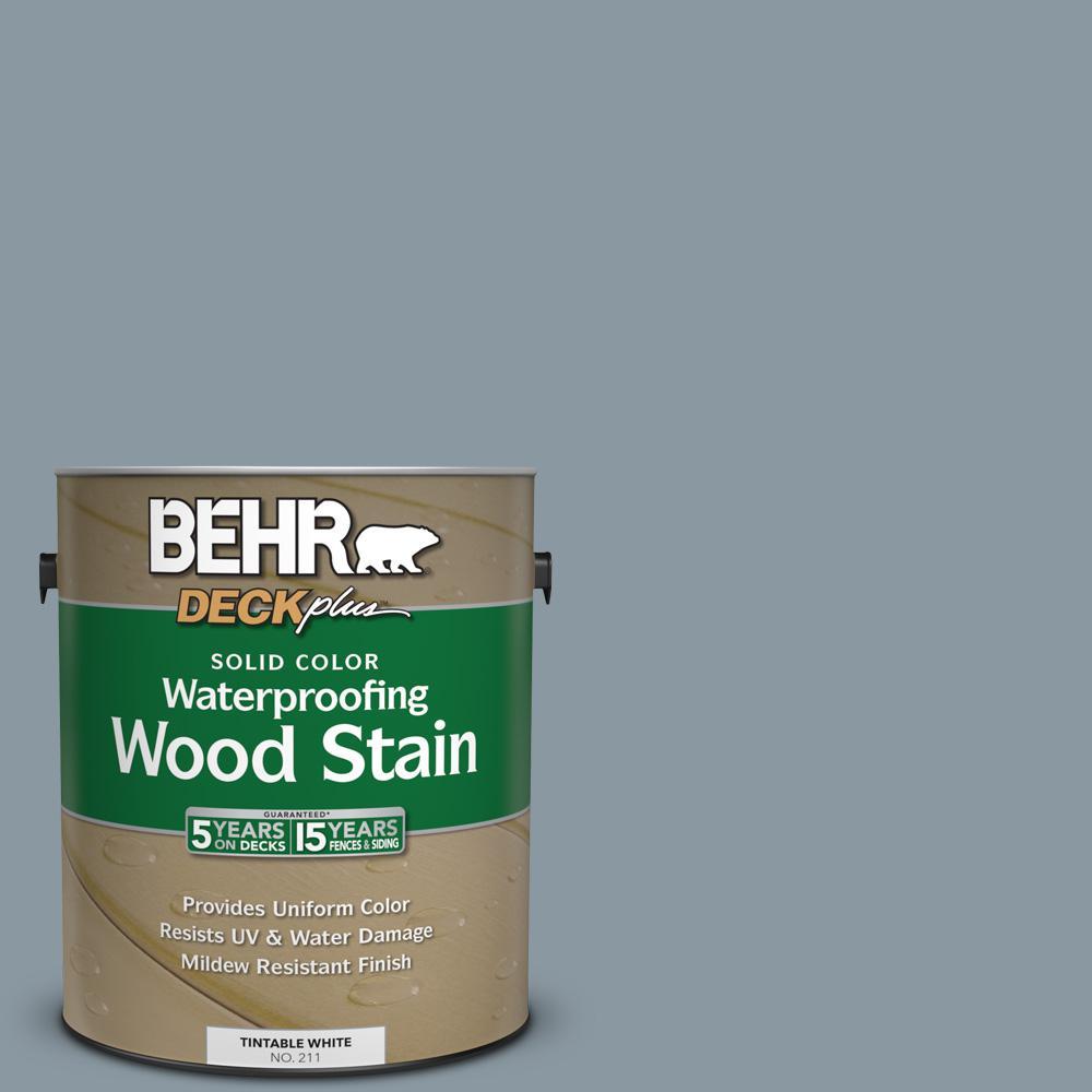 1 gal. #N490-4 Teton Blue Solid Color Waterproofing Wood Stain
