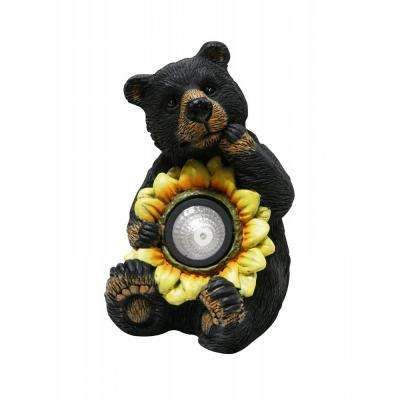 Solar Bear with Sunflower Statuary