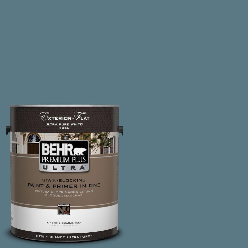 BEHR Premium Plus Ultra 1-Gal. #UL230-20 Catalina Coast Flat Exterior Paint