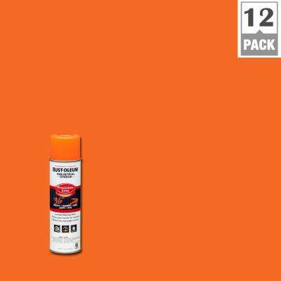 17 oz. M1600 System Precision Line Solvent-Based APWA Orange Inverted Marking Spray Paint (12-Pack)