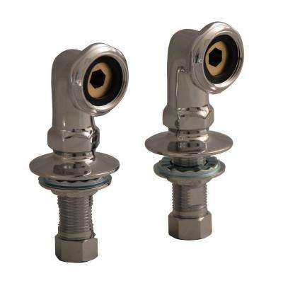 2 in. Brass Deck Mount Coupler in Polished Chrome