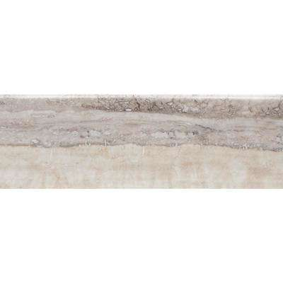Isabella Isola Beige Matte S44C9 4-1/4 in. x 12-3/4 in. Ceramic Bullnose Wall Tile (7.58 sq. ft. / Case)