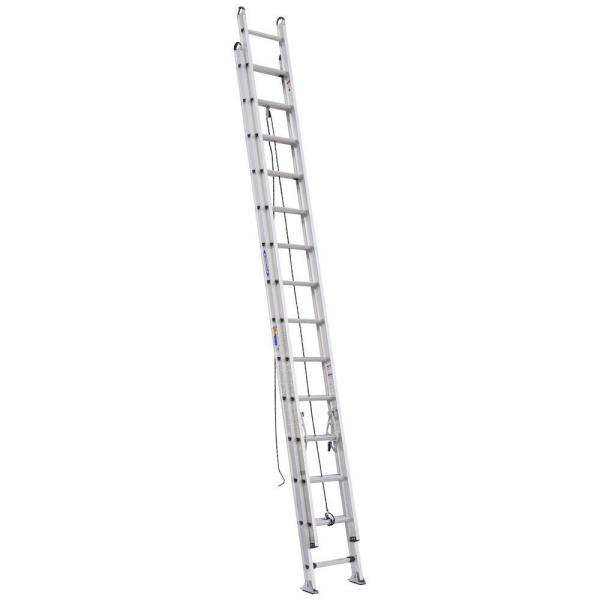 28 ft. Aluminum D-Rung Extension Ladder with 375 lb. Load Capacity Type IAA Duty Rating