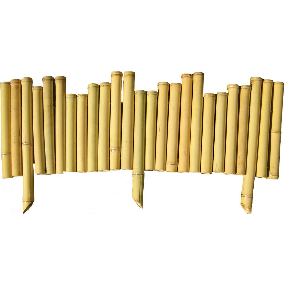 Backyard X-Scapes 7/8 in. x 8 in. x 23 in. Natural Bamboo Edging (5-Pieces)