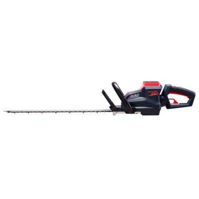 Red and Black 24 in. 2.5 Ah 84-Volt Lithium Ion Battery Brush-less Motor Cordless Hedge Trimmer Set