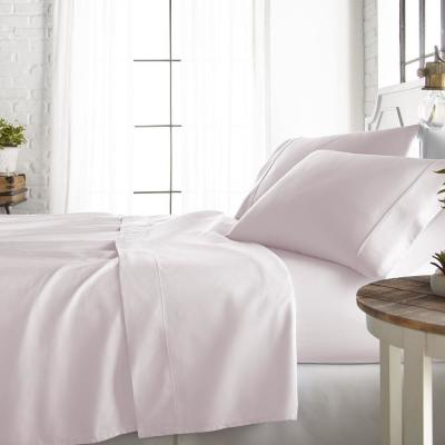 4-Piece Blush 800 Thread Count Cotton Rich King Bed Sheet Set
