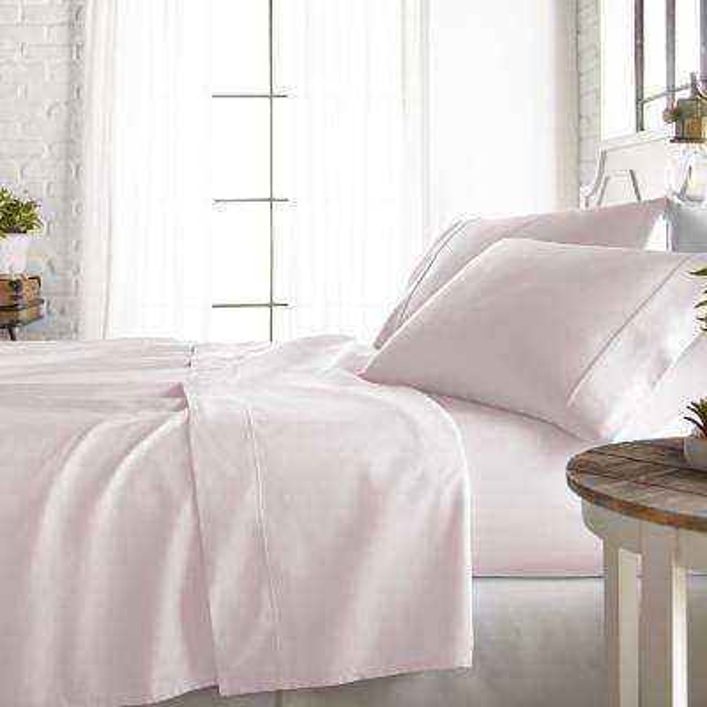 4-Piece Blush 800 Thread Count Cotton Rich Queen Bed Sheet Set