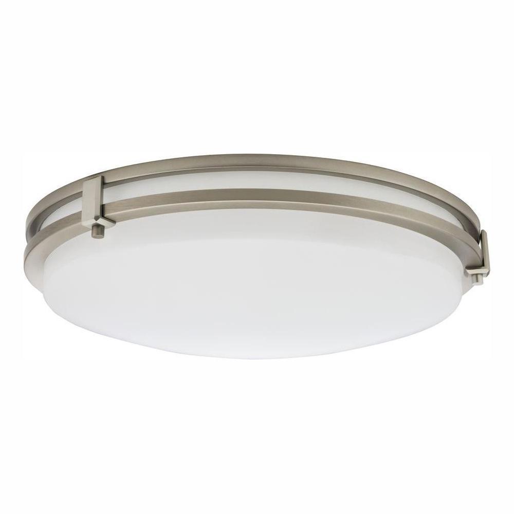 Saturn 16-Watt Brushed Nickel Integrated LED Flush Mount