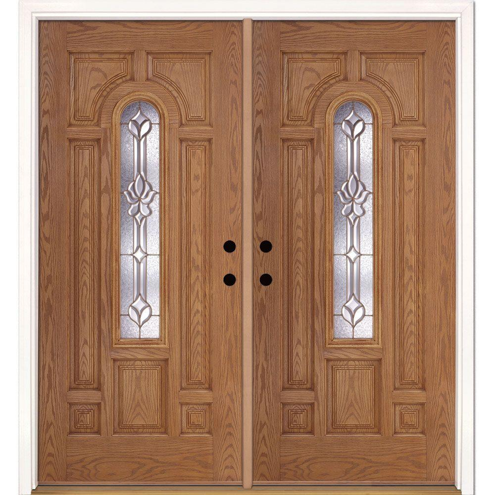 Double Doors Exterior Home Depot: Feather River Doors 74 In. X 81.625 In. Medina Brass