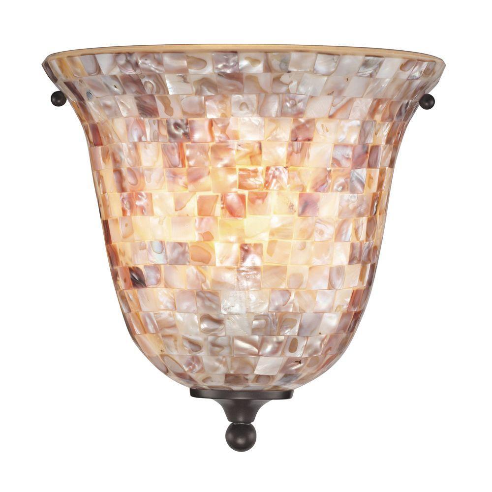 Titan Lighting Berkley 1-Light Oil Rubbed Bronze Wall Sconce