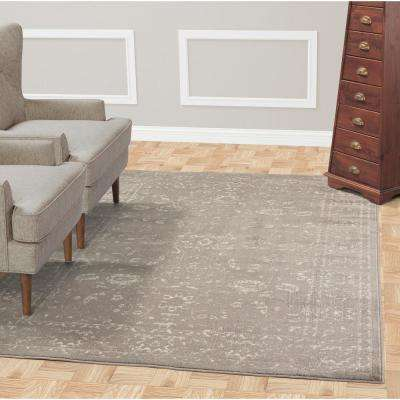 Jasmin Collection Gray and Ivory 5 ft. 3 in. x 7 ft. 3 in. Oriental Mahal Area Rug