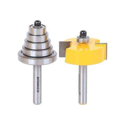 Rabbet with 6 Bearing 1/4 in. Shank Carbide Tipped Router Bit