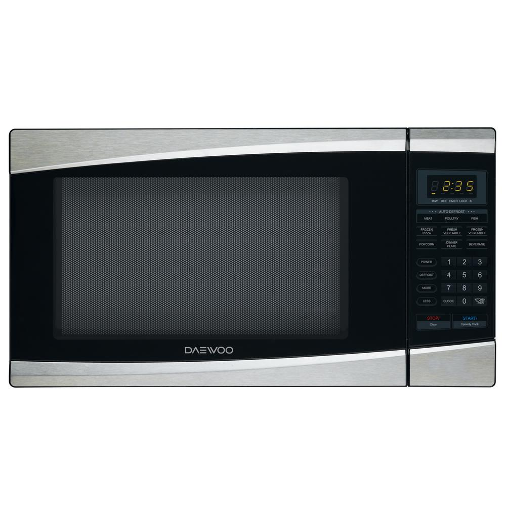 DAEWOO 1.3 cu. ft. Countertop Microwave in Stainless Steel