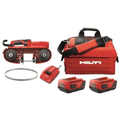 22-Volt SB 4 Lithium-Ion Cordless Band Saw with Two 4.0 Ah Batteries, Charger, Rafter Holder, 10/14 TPI Blade and Bag