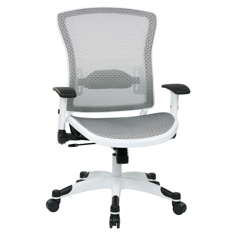 Space Seating White And Grey Manager Office Chair
