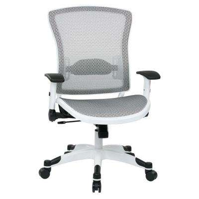White and Grey Manager Office Chair